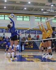 Volleyball falls to North Stanly