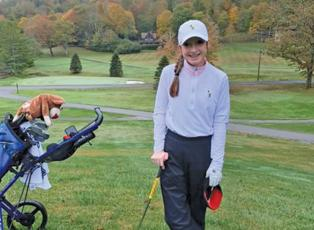 Highlander freshman Anna Stiehler carded a 91 in tough weather conditions at the NCHSAA Class 1A/2A regional golf tournament, good enough for ninth place and a ticket to the state tournament in Pinehurst on Oct. 28.
