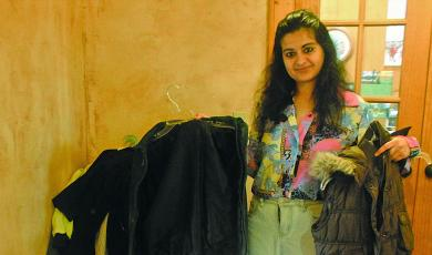 Winter coat drive coordinator Sukhin Chawla said more than 50 coats and jackets have been donated during the Scaly Mountain coat drive.