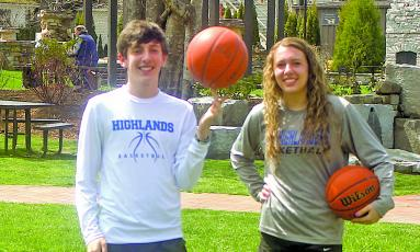 Highlands siblings Reid and Jordan Carrier lit up the twine for the Highlanders basketball teams this season.