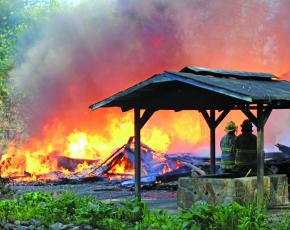 Fire raged through the lodge at Andy's Trout Farm on Thursday, May 7. It took crews from 10 fire departments, from across two counties, nearly three hours to extinguish the blaze.