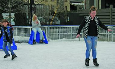The ice rink at Kelsey-Hutchinson Founders Park is scheduled to open in November.