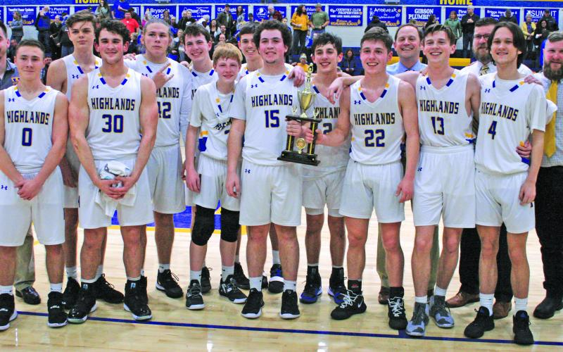 Highlands claimed the Little Smoky Mountain Conference tournament title.