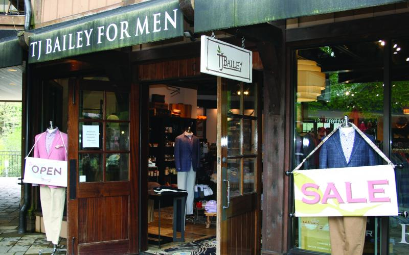 TJ Bailey For Men on Main Street reopened its doors on May 8.