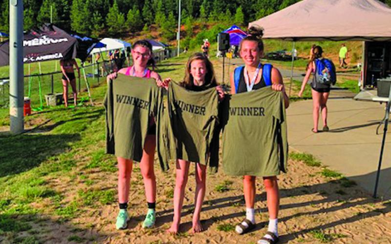 Highlands volleyball players India Clark, Tessa Wisniewski and Jordan Carrier won a three-on-three volleyball tournament on July 11 in Greenville, South Carolina.
