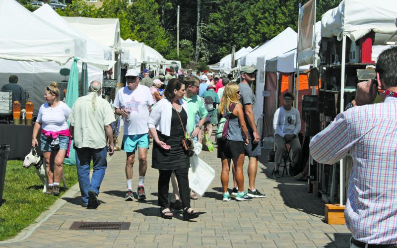 The 2020 Mountaintop Arts and Crafts show will take place on Aug. 29-30 in Founders Park.