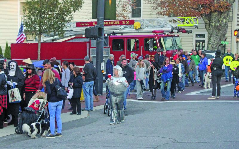Highlands traditionally draws big crowds along Main Street for the annual Halloween celebration. Due to COVID-19 restrictions, the Highlands Chamber of Commerce has decided to cancel the 2020 event.