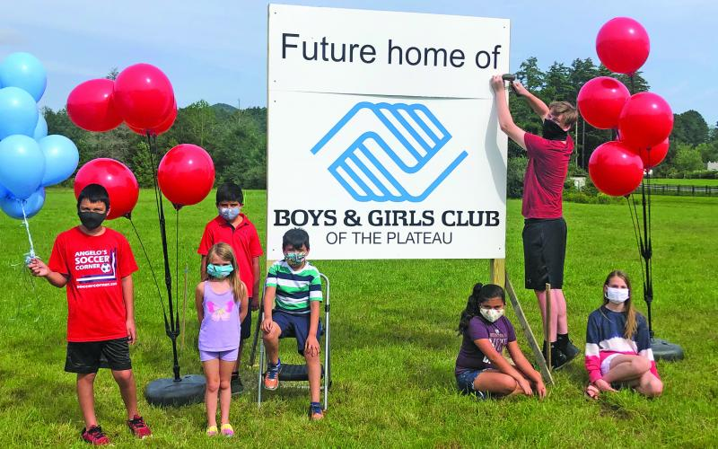 Boys & Girls Club of the Plateau members showed off the club's proposed new facility site and plans for the future.