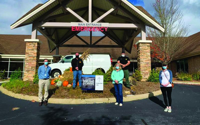 Officers from the Macon County Sheriff's Office and Highlands Police Department joined Highlands-Cashiers Hospital staff for a drug take back day in October.