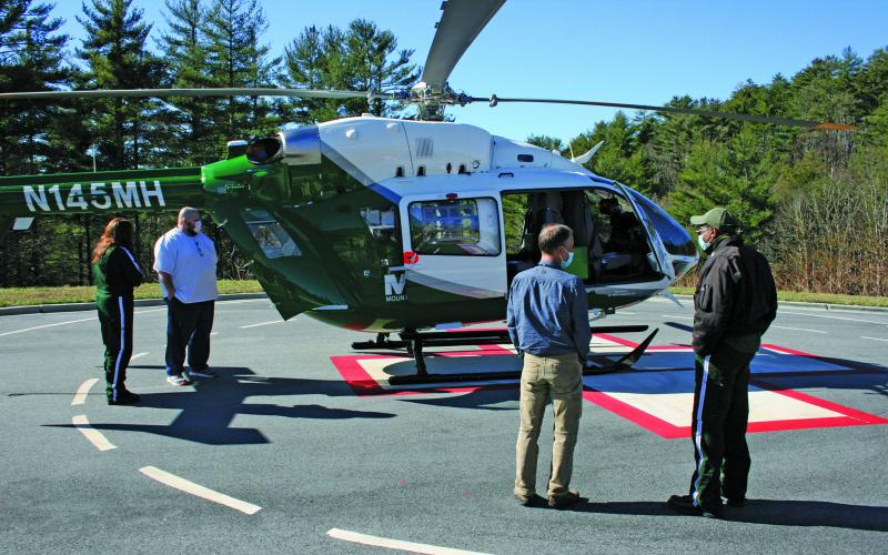 Hospital Corporation of America recently purchased a new Airbus helicopter to be used in the Mountain Area Medical Airlift program. The helicopter debuted in Highlands on Nov. 20.