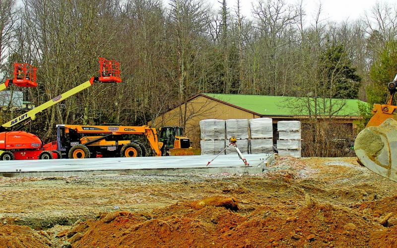 Dollar General has started construction of a new store on US 64 East in Highlands.